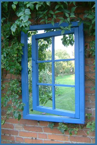 Garden Mirror Illusion Georgian Open Window